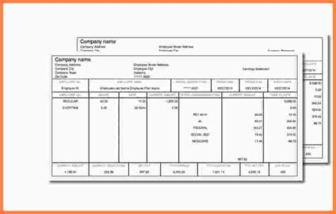5 1099 pay stub template sles of paystubs