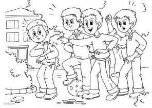 anti bullying color free coloring pages of anti bullying