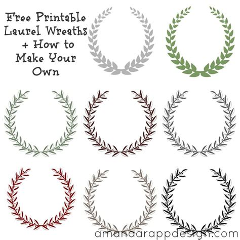 printable laurel leaves free printable laurel wreaths how to make your own
