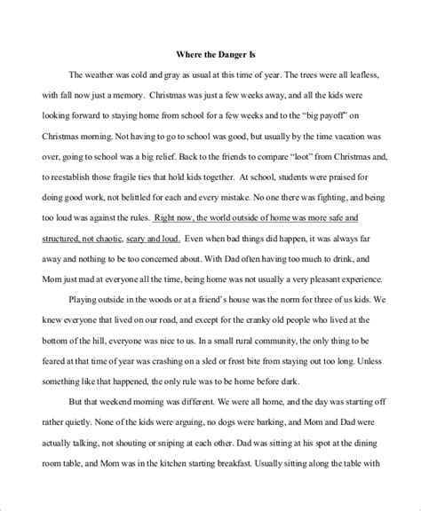 Exle Of Descriptive Essay Story descriptive essay exle 6 sles in pdf