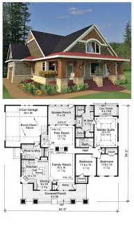 floor plans craftsman style bungalow cottage craftsman traditional house plan 42618