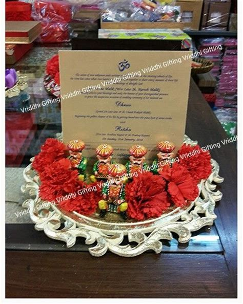 Indian Wedding First Card Presentation Packing.   Wedding