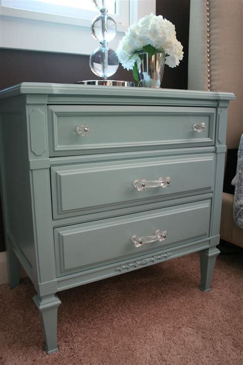 Turquoise Nightstand stuck on hue bedroom update turquoise nightstand before after