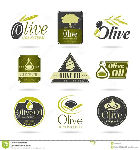 Can You Use Olive In An L by Olive Icon Set Stock Vector Image 40660268