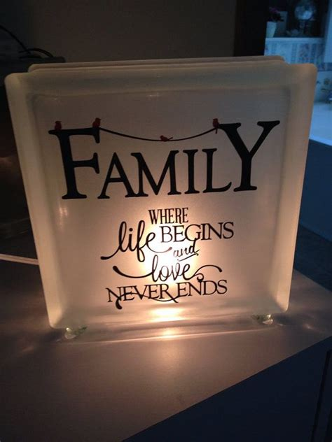 Lighted Iphone Case Frosted Glads Block Night Light With Verse On Family And