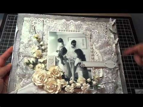 wedding scrapbook layout    roses