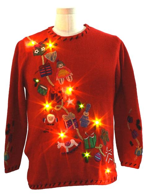 tacky light up sweaters light up tacky sweaters decoratingspecial