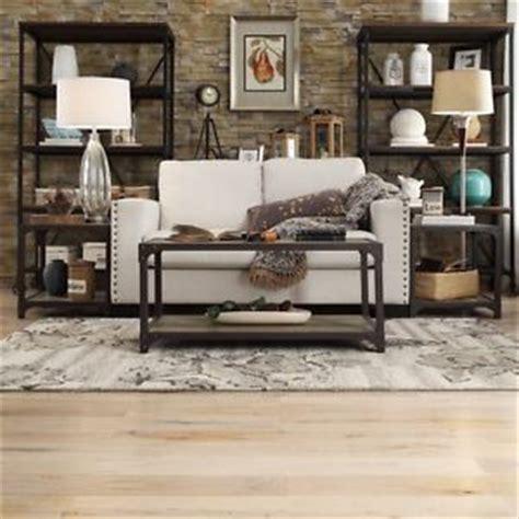 rustic living room furniture set end table industrial