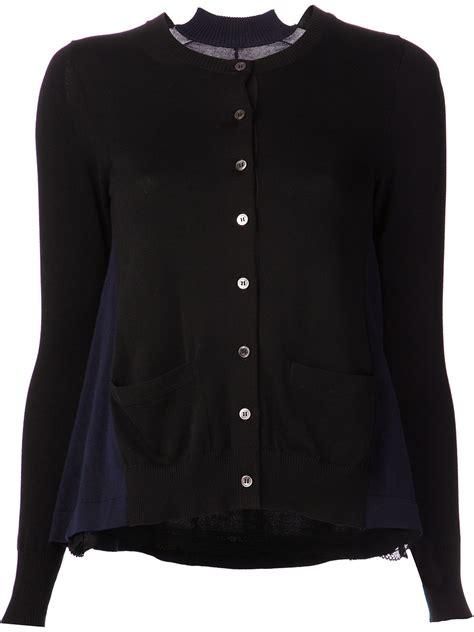 swing cardigan sacai swing cardigan in black lyst