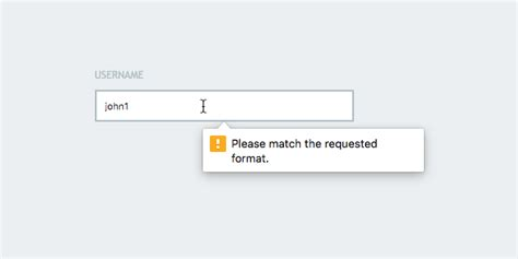 html5 pattern validation error message html5 form validation with the pattern attribute