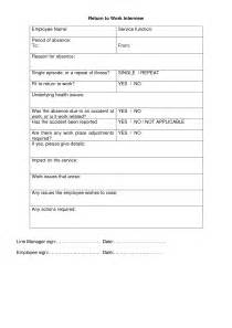 back to work template best photos of return to work form template return to