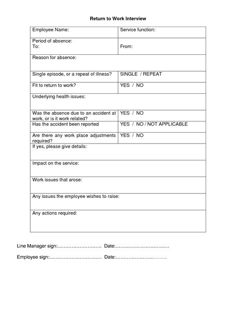 best photos of blank printable doctor note return work to