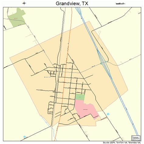grandview texas map grandview texas map 4830512