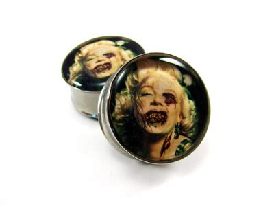vire tattoo neck zombie ear gauges