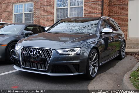 Audi Rs Avant by Breaking Audi Rs 4 Avant Spotted In The Usa Quattroworld