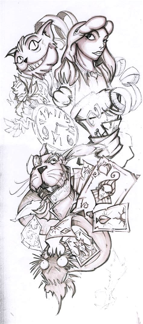 tattoo sleeve designs sketches wip half sleeve by cogitat on deviantart