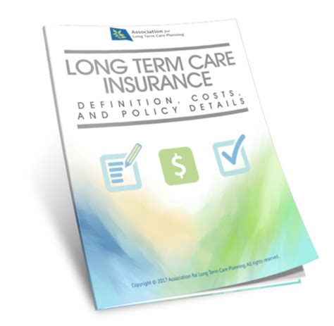 long term care insurance definition costs policy types