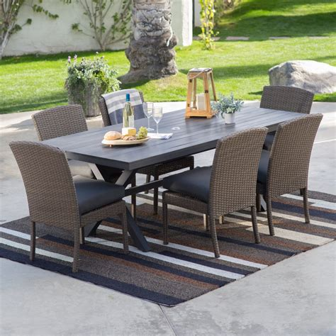 Belham Living Bella All Weather Wicker Piece Patio Dining Patio Furniture Dining Sets Clearance