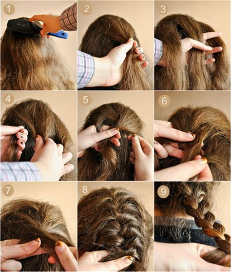 how to braid short hair step by step hairstyles step by step