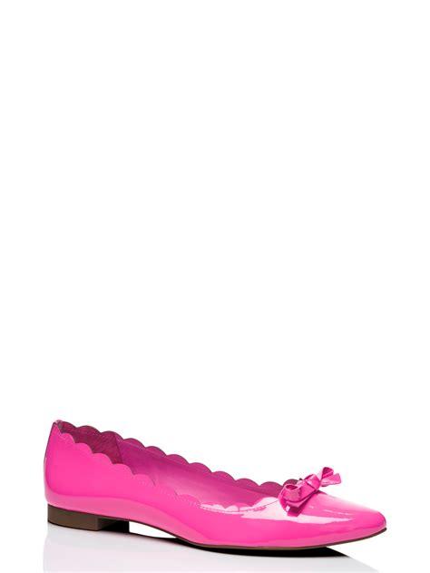 kate spade new york eleni flex flats in pink lyst