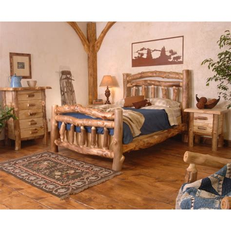 Aspen Log Bedroom Furniture Wasatch Aspen Silver Creek Bedroom Set