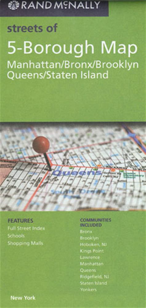 nyc five boro map by vandam laminated pocket city map w attractions in all 5 boros of ny city manhattan the bronx st island w new subway map 2017 edition streetsmart books 5 borough map rand mcnally new york city maps books