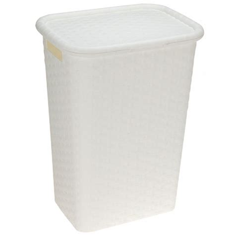 plastic laundry with lid 50l large rattan style plastic clothes laundry storage