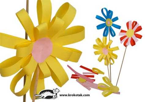 Paper Flower Crafts - paper flowers