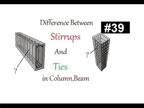 8 legged stirrups in beam difference between ties and stirrups in column and beam in urdu