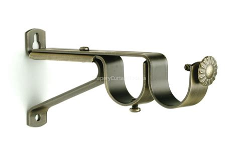 double curtain bracket double curtain rod brackets gnewsinfo com