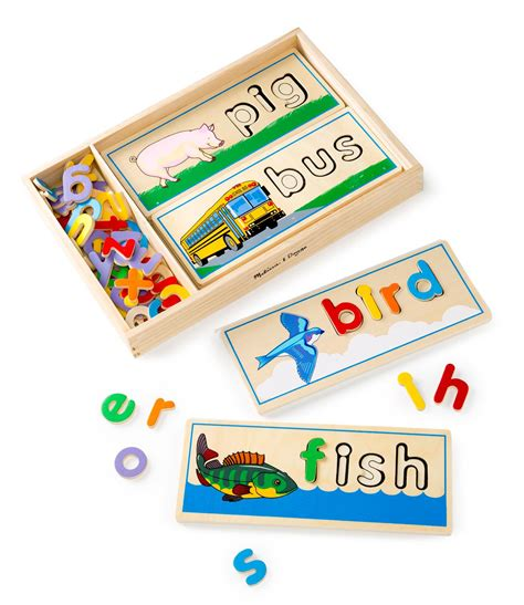 wood pattern and spelling toy amazon com melissa doug see spell wooden educational