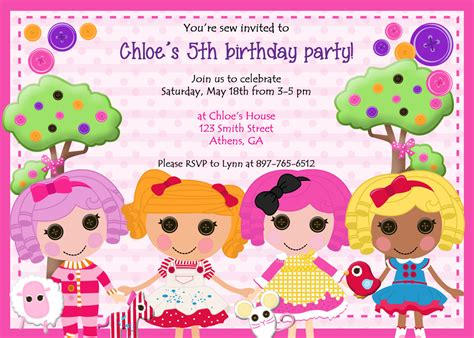 lalaloopsy birthday invitations party invitations ideas free lalaloopsy birthday invitations bagvania free