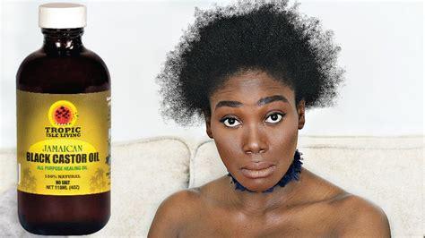 jamaica black castor oil  days challenge  natural hair pt youtube