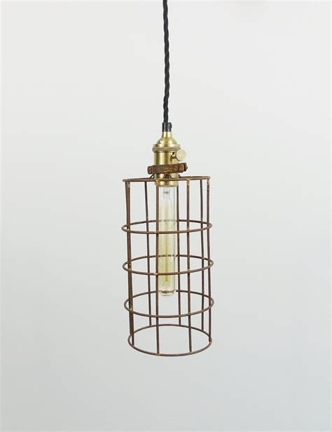 Simple Pendant Lights Simple Industrial Wire Cage Pendant Ceiling Light The Den Now