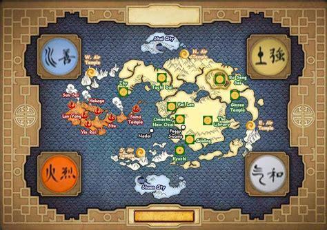 avatar   airbender map alternate worlds