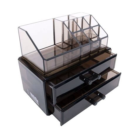 black acrylic makeup drawers black acrylic makeup cosmetic drawer organizer or jewelry