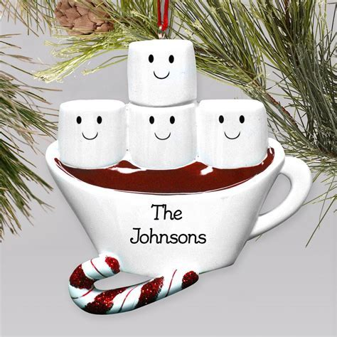 Personalized Marshmallow Family Christmas Ornament