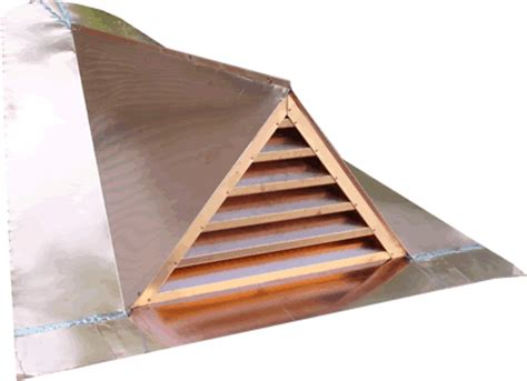 Triangle Dormer Copper Roof Vents Or Copper Dormers By Copper Inc