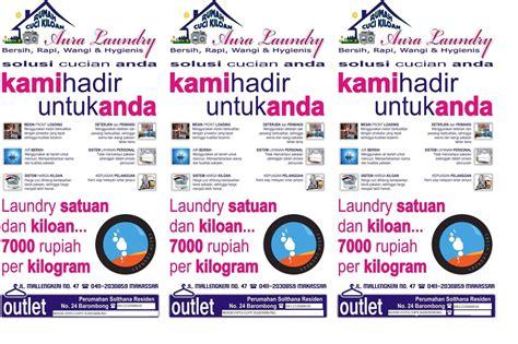 cara membuat brosur laundry survey di bayar dengan ipanel indonesia aura loundry