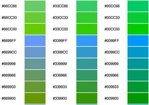 green color codes change colors on the leap cms hexadecimal colours reference