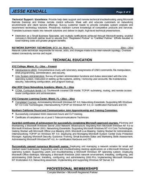 more system administrator resume exles