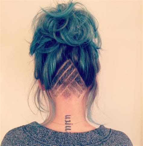undercut pattern hair shaved nape patterned shave pattern undercut hair