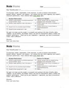 Behavior Letter To Parents From Teacher Template Classroom Freebies Note Home To Parents For Student
