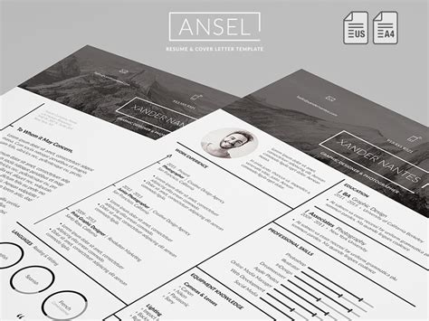 Cursive Q Resume by Ansel Resume And Cover Letter Template Cursive Q Designs