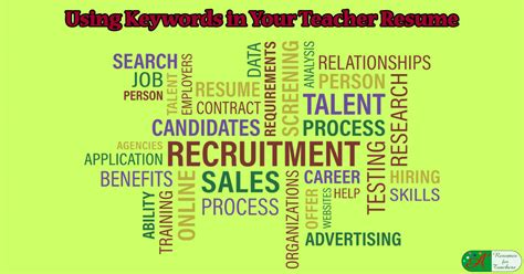 using buzzwords or keywords in your resume