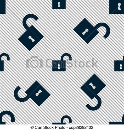pattern lock sign up vector clipart of open lock icon sign seamless pattern