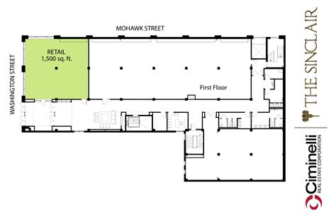 Retail Space Floor Plan | commercial space the sinclair buffalo