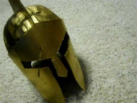 How To Make A Spartan Helmet Out Of Paper - my cardboard spartan helmet