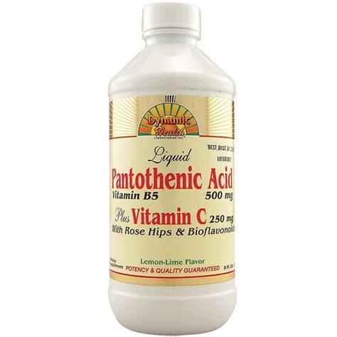 Vitamin Dynamic C dynamic health laboratories pantothenic acid plus vitamin c lemon lime 8 fl oz evitamins