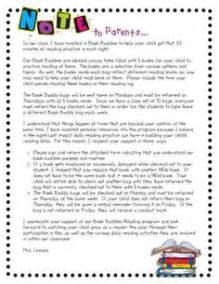 Book Report Letter To Parents Letter To Parents On Pinterest Parent Letters Parent